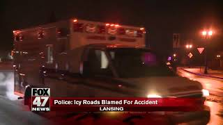 Icy roads blamed for accident