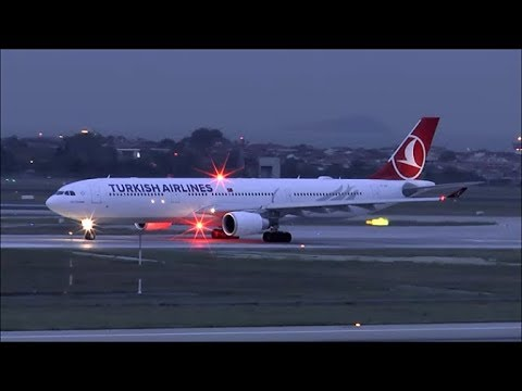 [HD] THY Airbus A330-300 takeoff at Istanbul Ataturk Airport - 10/10/2015