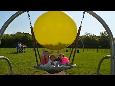 Giant Balloon Pop Toy Challenge – Outdoor Playground Fun – Surprise Eggs Opening | Toy Prizes