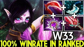 W33 [Templar Assassin] 100% Winrate in Ranked No Mercy 27 Kills 7.22 Dota 2