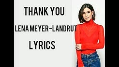 Thank you _ Lena meyer-landrut II Lyrics