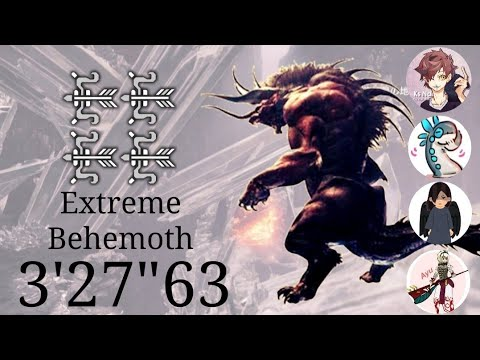 "【MHW】極ベヒーモス討滅戦 弓4ptエリア1討伐 3'27""63/Extreme Behemoth Bow 4pt"