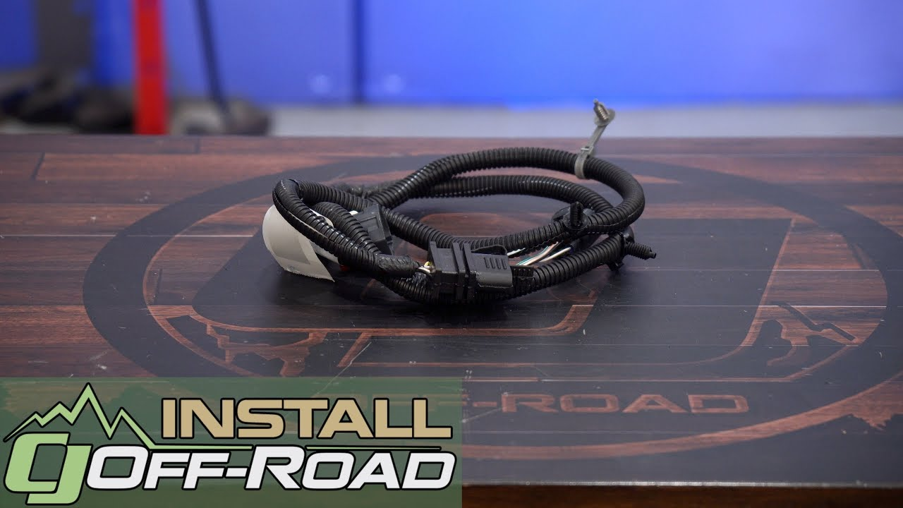 small resolution of jeep wrangler jk mopar trailer wiring harness 4 way 2007 2018 installation