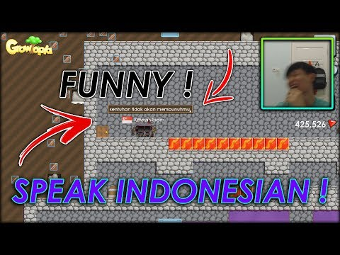 Growtopia | TEACHING REAL LIFE FRIENDS TO SPEAK INDONESIAN (FUNNY) !