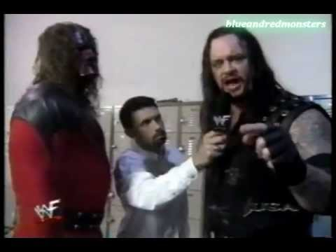 The Undertaker and Kane Backstage Interview and mankind attack 20 9 98 HD!!!!