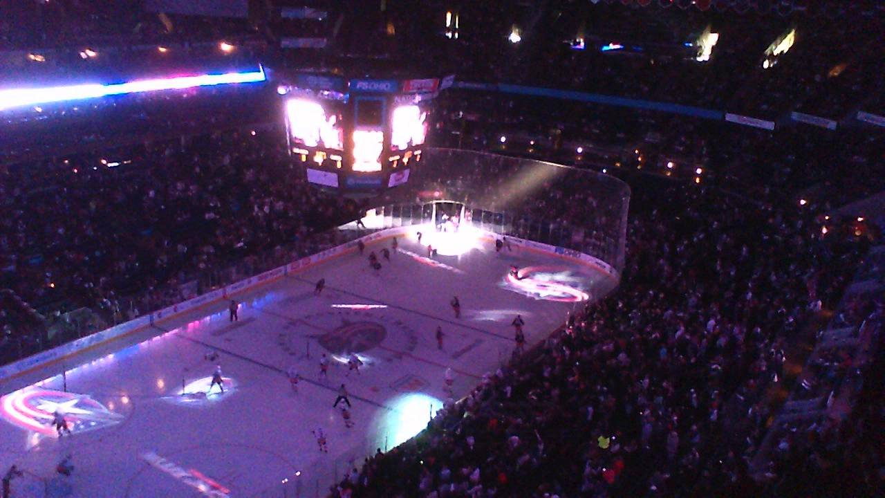 Blue Jackets vs Islanders 4/7/12 Introductions, starting line up ...
