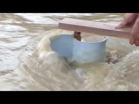 savonius as water turbine