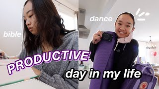 PRODUCTIVE DAY IN MY LIFE | dance, school, & bible study! Nicole Laeno