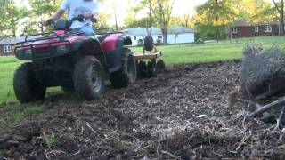 Trying discing with the four-wheeler