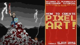 How to Make Pixel Art / Beginner Photoshop Tutorial / By Nick Casale