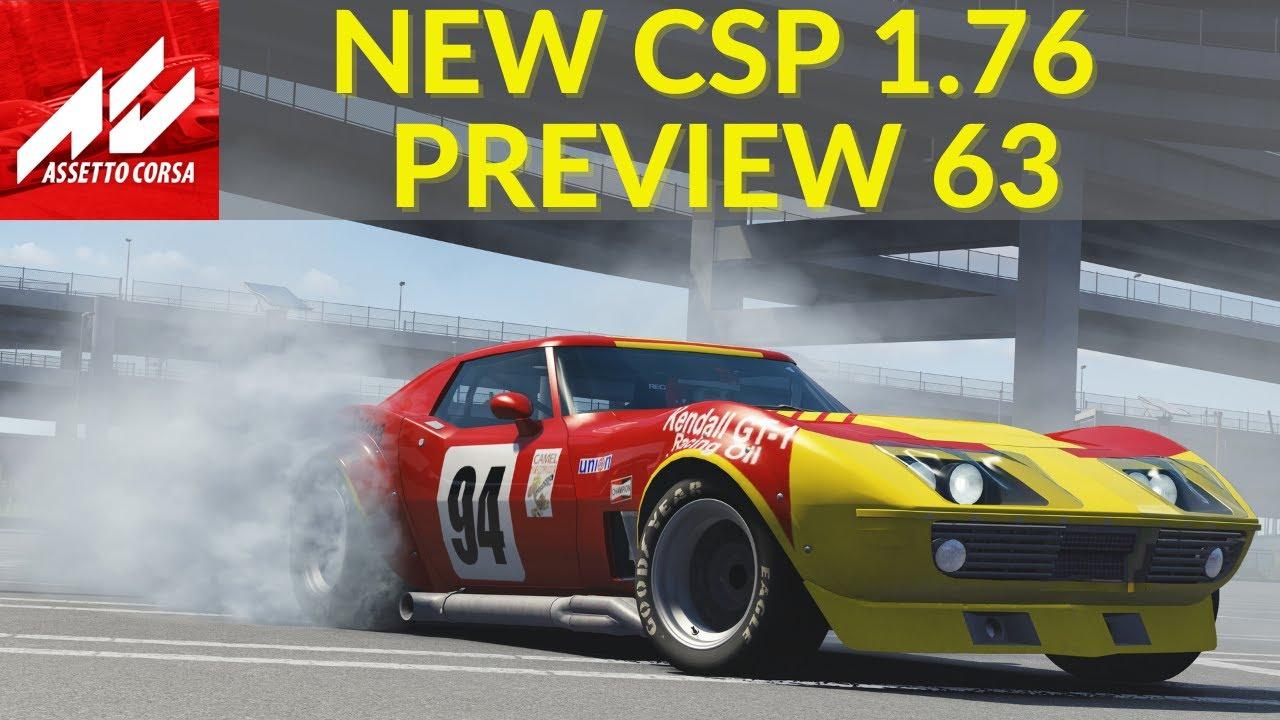New CSP 1.76 Mod Assetto Corsa New Smoke Effect & More!