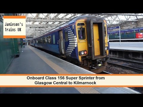 Onboard Class 156 Super Sprinter from Glasgow Central to Kilmarnock