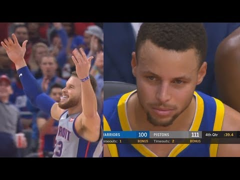 Blake Griffin Ruins Stephen Curry's Return & Gets Standing Ovation From Pistons Crowd!