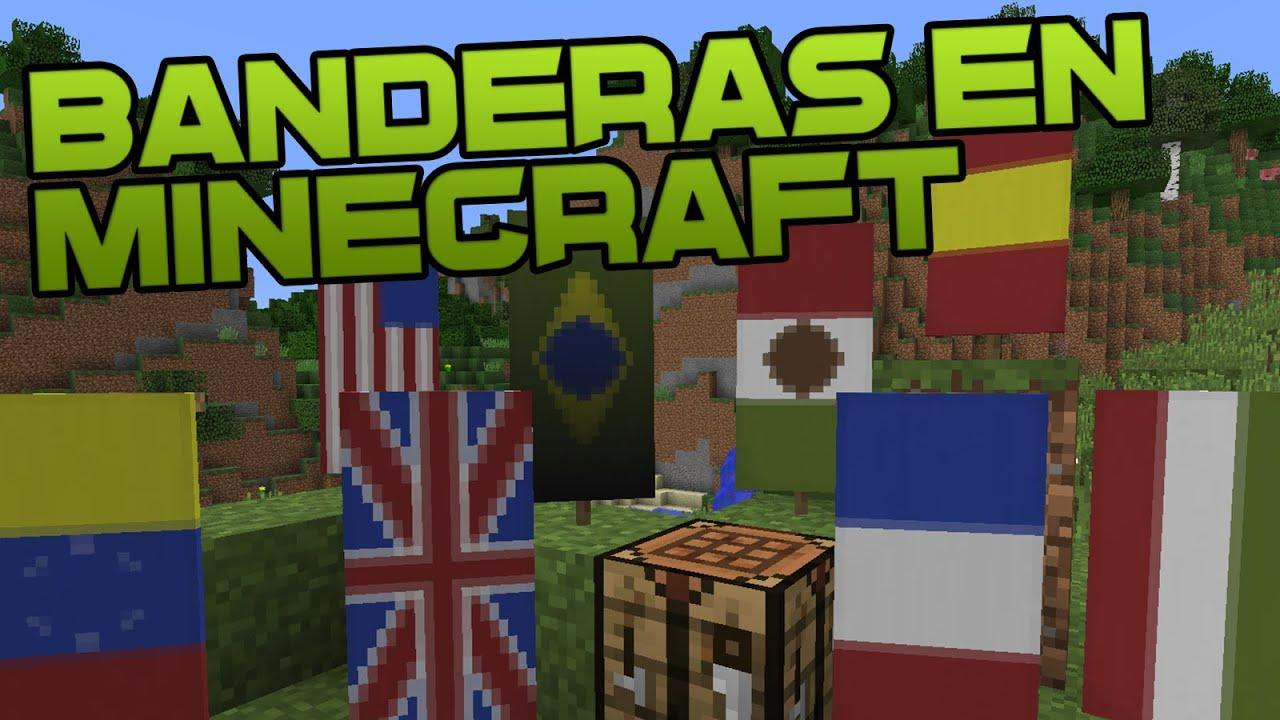 COMO HACER BANDERAS EN MINECRAFT - Tutorial de Minecraft - YouTube