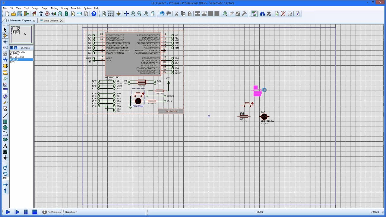 Visual Designer - Schematic as breadboard - YouTube