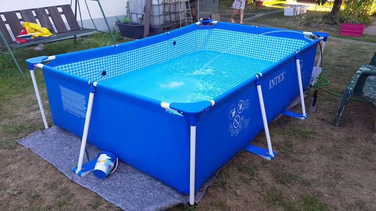 Abdeckplane Für Quick Up Pool Intex 300x200x75