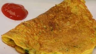 Besan Puda With Spring Onions (savory Pancake With Spring Onions) Indian Recipe