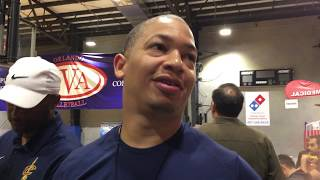 Cavaliers' tyronn lue interview on kyrie irving and lebron james | espn