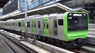【4K】【新型】JR山手線E235系通勤型電車(量産先行車トウ01編成) 走行シーン集+車内映像付き走行音 thumbnail