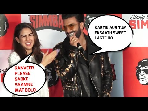 Sara Ali Khan BLUSHES, Awkward when Asked on Kartik Aaryan - Simmba Promotion