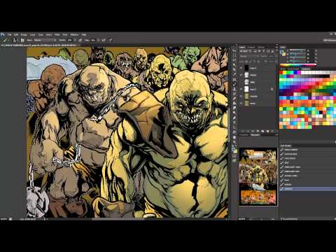 How I Color Comics! Speed coloring: Hack/Slash: Son of Samhain #1 - Page 01 (no audio)