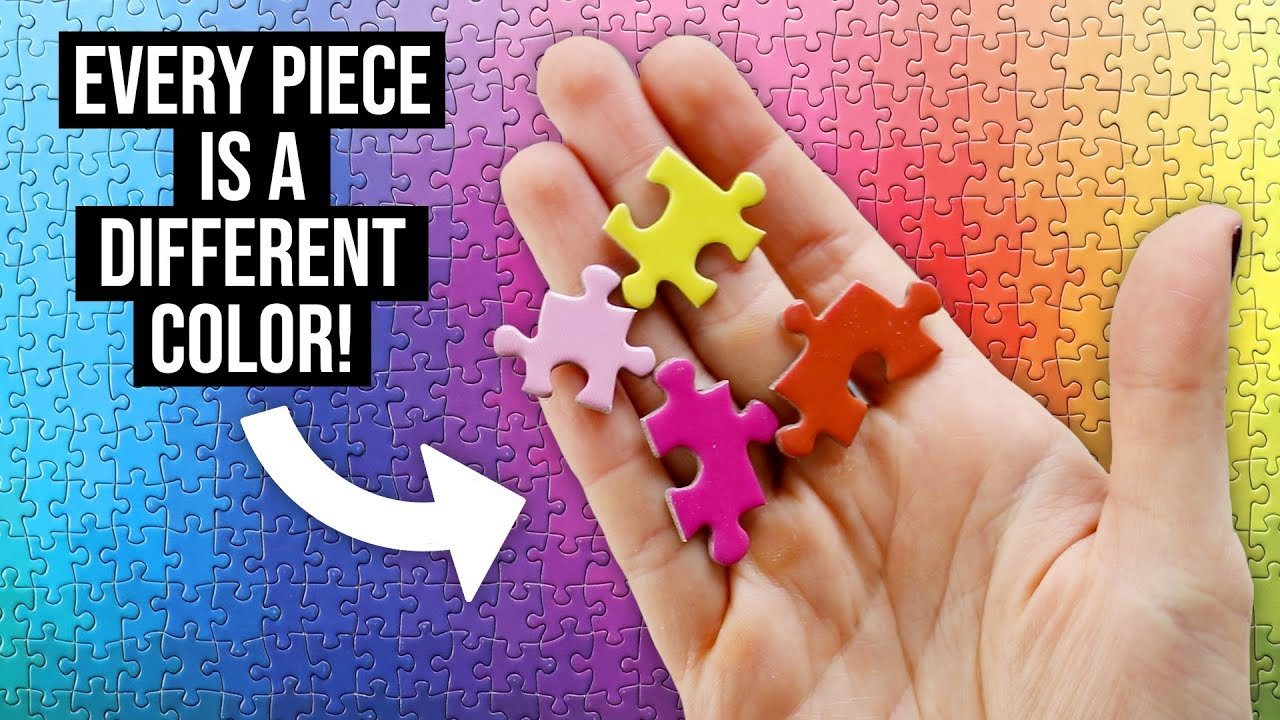 Doing the 1000 Colors Gradient Jigsaw Puzzle (every piece is a ...