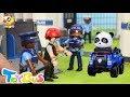 脱獄計画、成功できるかな?刑務所からの脱出❤警察ごっこ遊び❤トイバス(ToyBus)キッズ おもちゃアニメ
