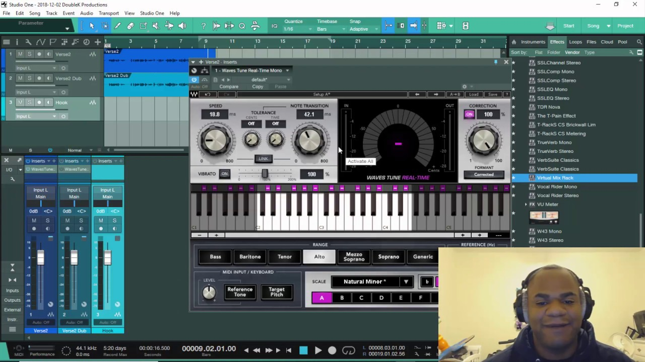 presonus studio one 4 how do the waves tune real time works youtube. Black Bedroom Furniture Sets. Home Design Ideas
