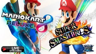 Mario Kart 8 Deluxe | Super Smash Bros Ultimate | Live Stream | Viewers Races and Matches.