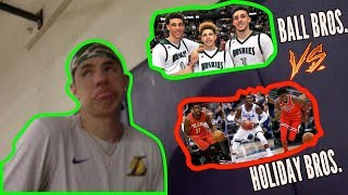 LaMelo Ball Responds to Internet Post Ball Brothers vs Holiday Brothers..WHO WOULD WIN?