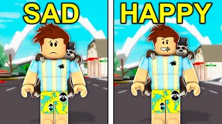 SAD To HAPPY In Roblox Brookhaven..