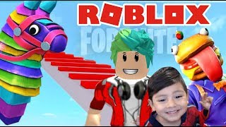 OBBY FORTNITE EN ROBLOX | Escape The Fortnite Obby | Juegos Roblox