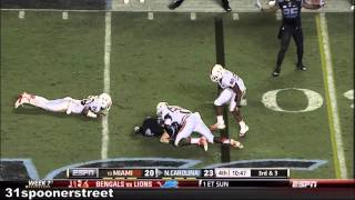 Miami Hurricanes vs North Carolina 2013