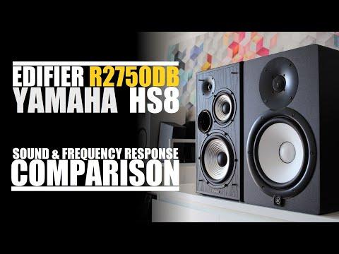 Edifier R2750DB  vs  Yamaha HS8  ||  Sound & Frequency Response Comparison