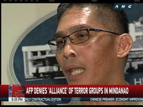 AFP denies 'terror alliance' in Mindanao