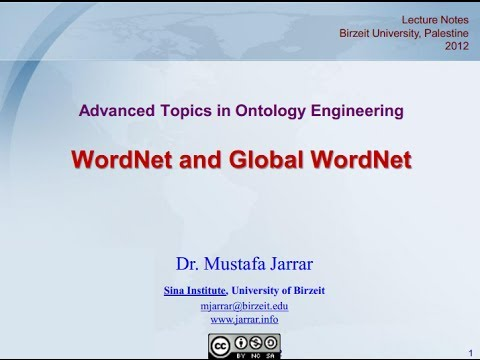 WordNet and Global WordNets (Part 1/2)