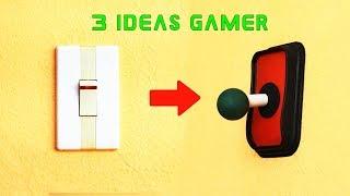 3 IDEAS GAMER QUE CUALQUIERA PUEDE HACER EN CASA - LIFE HACKS