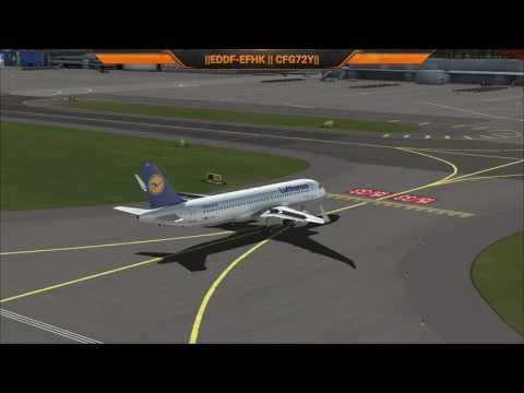 Frankfurt to Helsinki VATSIM CFG72Y A320