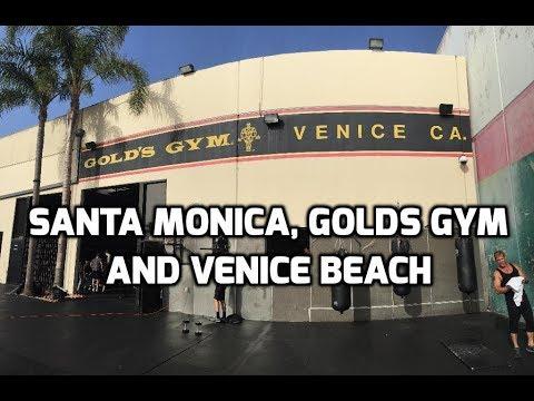 Santa Monica, Golds gym and Venice Beach