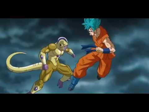 Dragon Ball Z Resurrection F -- SSGSS Goku Vs Golden Frieza