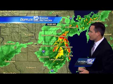 Strong storms move through SE Wisconsin this morning