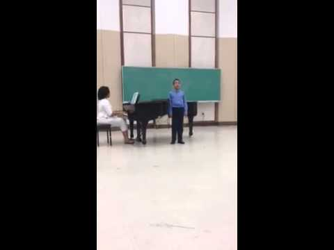 Brother singing at UofL school of music