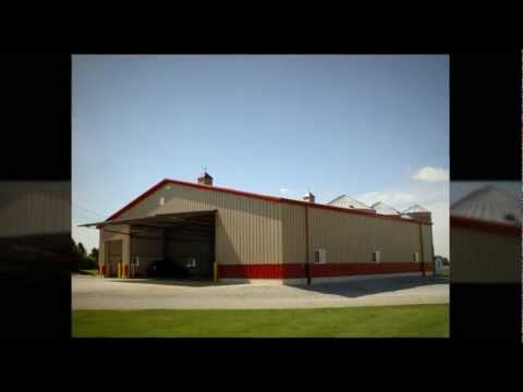 Steel Agricultural Buildings Prefabricated Metal Barns Pre-Engineered Pole Barn and Shop Structures