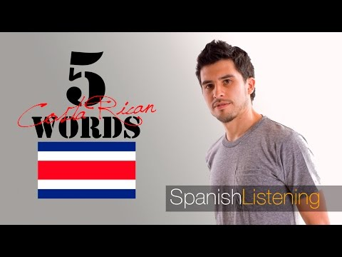 5 common Costa Rican words