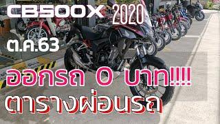 #CB500X 2020 EP.4 ตารางผ่อนรถ/ ดาวน์ 0 %/ วันออกรถใช้เงินกี่บาท / ขั้นตอนการจอง/ของแถม