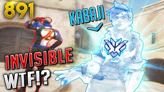 Kabaji: *THE INVISIBLE TRACER*! | Overwatch Daily Moments Ep. 891 (Funny and Random Moments)