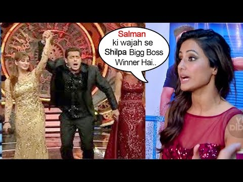 Salman Khan Ki Wajah Se Shilpa Bigg Winner Hai - Hina Khan On Shilpa Shinde Winning Bigg Boss 11