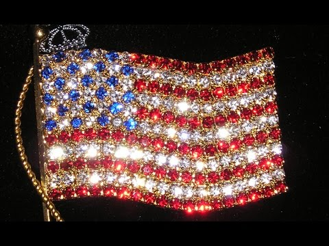 American Flag Jewelry, Bracelets, Rings, Brooches, Earrings. Sofia Goldberg's Collection
