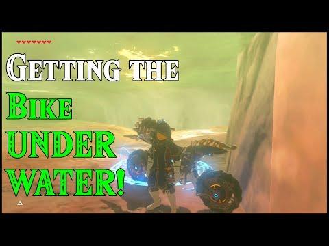 Getting the Bike UNDERWATER! Submarine DLC in Zelda Breath of the Wild DLC