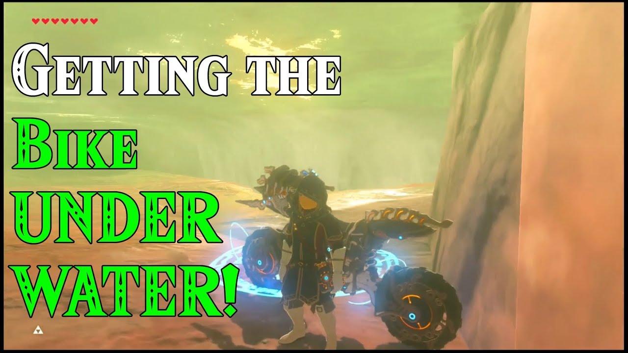 Getting The Bike Underwater Submarine Dlc In Zelda Breath Of The